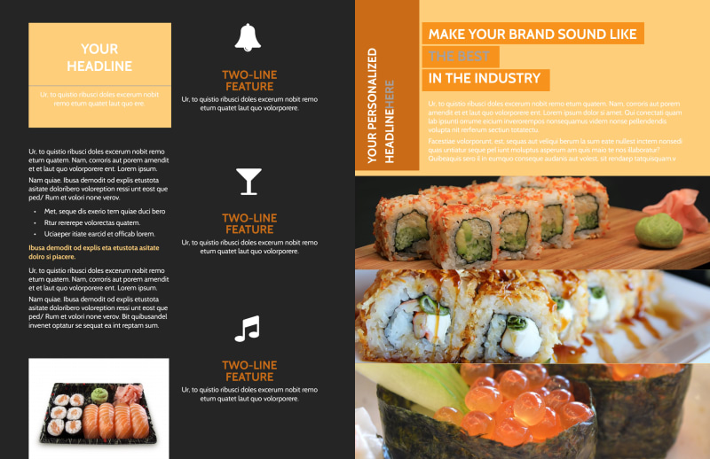 Cool Sushi Brochure Template Preview 3