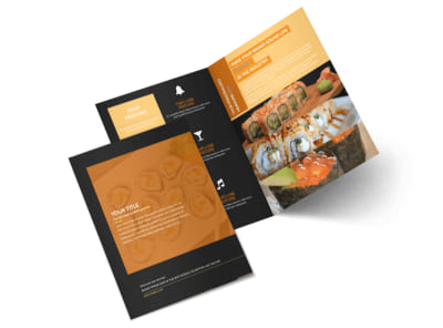 Cool Sushi Bi-Fold Brochure Template