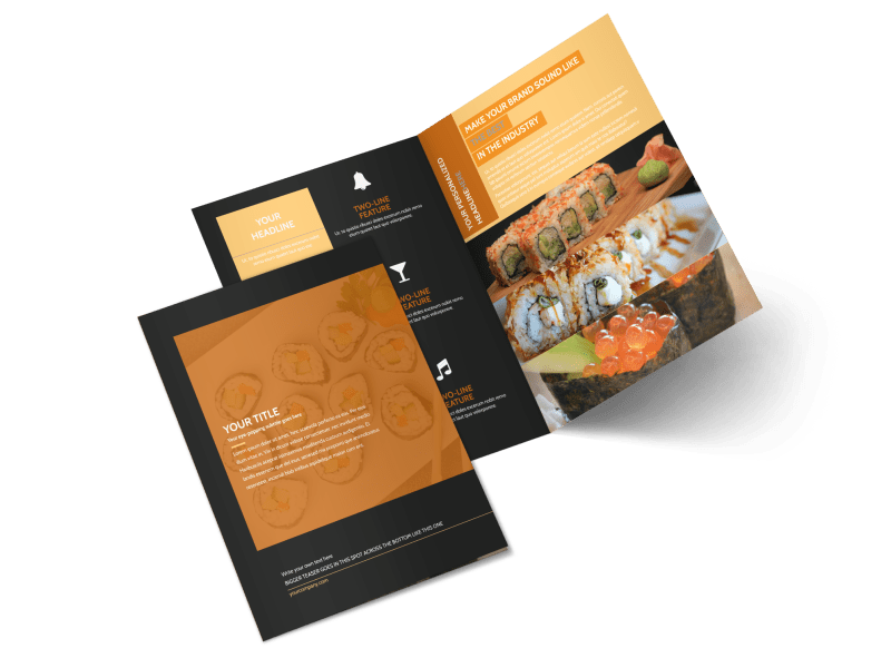Cool Sushi Brochure Template Preview 1