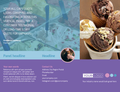 Sweets Ice Cream Shop Brochure Template Preview 1