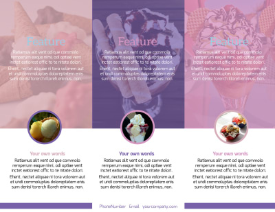Sweets Ice Cream Shop Brochure Template Preview 2