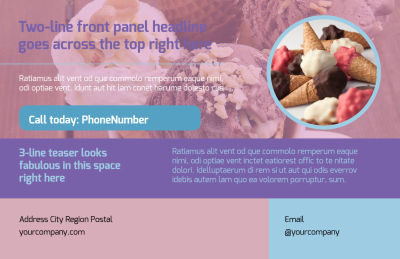 Sweets Ice Cream Shop Postcard Template Preview 2