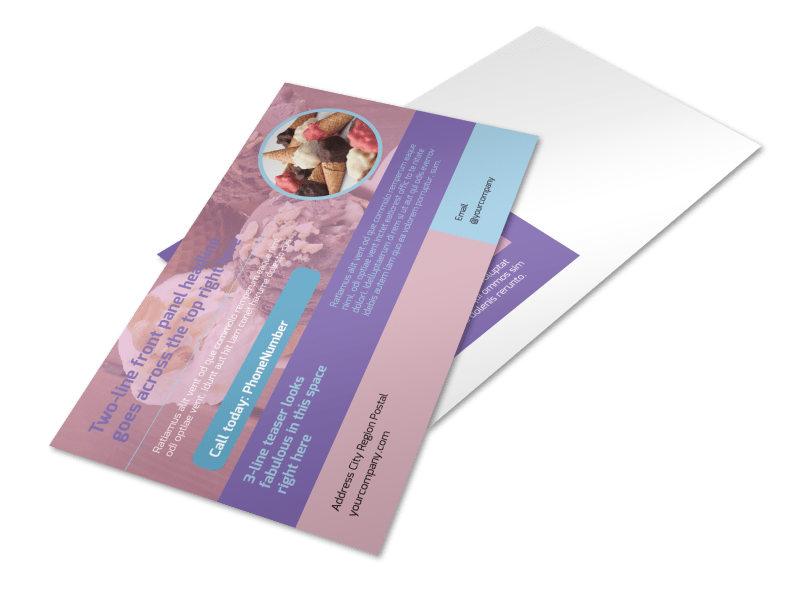 Sweets Ice Cream Shop Postcard Template Preview 1