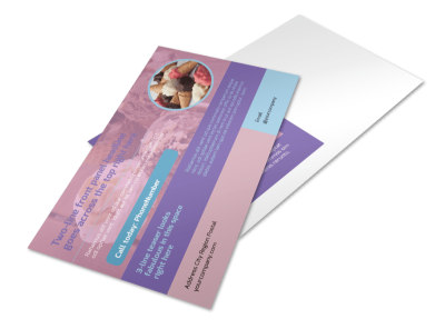 Sweets Ice Cream Shop Postcard Template preview