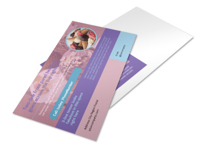 Sweets Ice Cream Shop Postcard Template