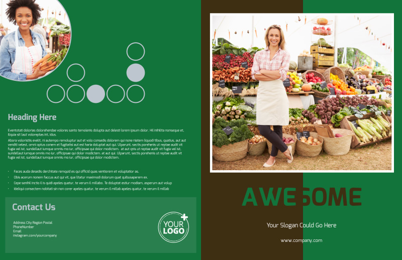 Delicious Food Co-op Brochure Template Preview 2