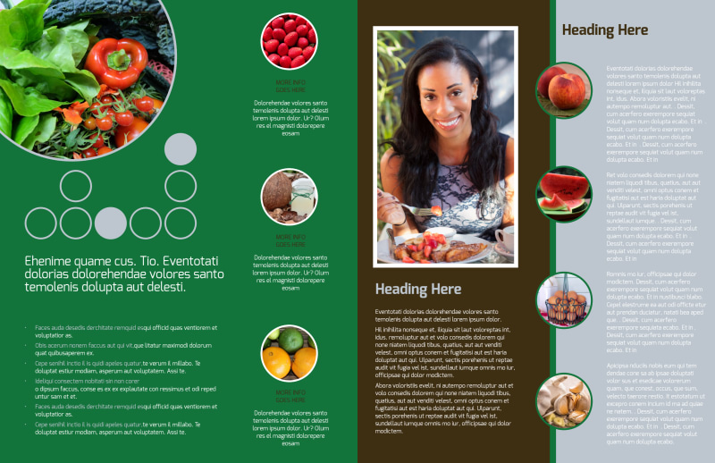 Delicious Food Co-op Brochure Template Preview 3
