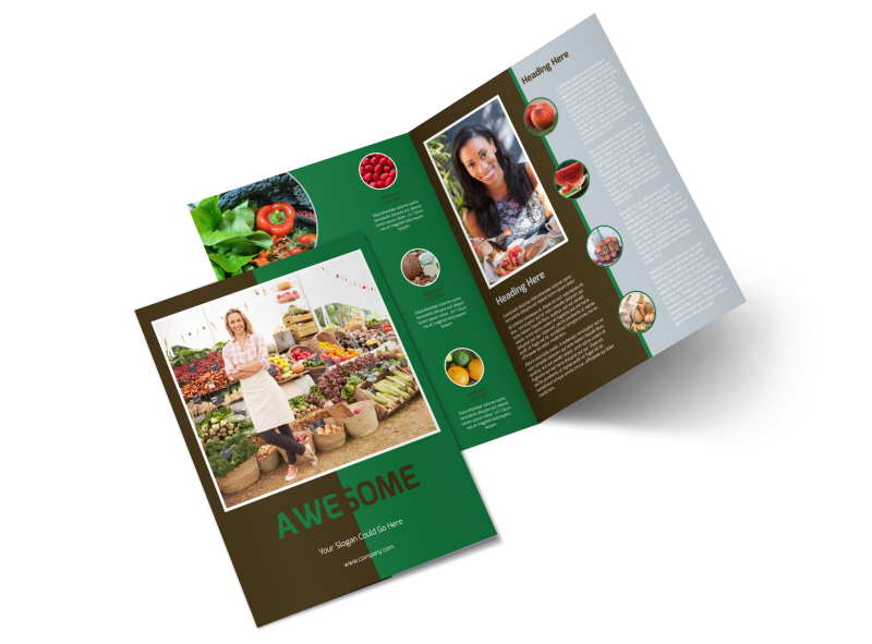 Delicious Food Co-op Brochure Template Preview 1