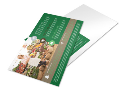 Delicious Food Co-op Postcard Template preview