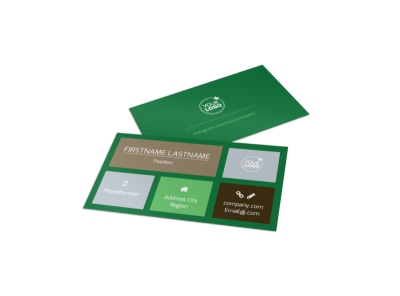 Delicious Food Co-op Business Card Template preview