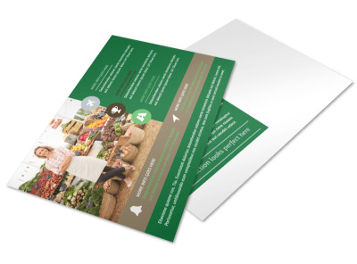 Delicious Food Co-op Postcard Template