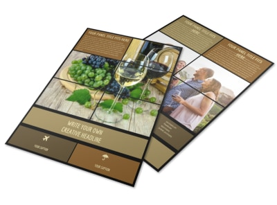 Wine Country Vineyard Flyer Template preview