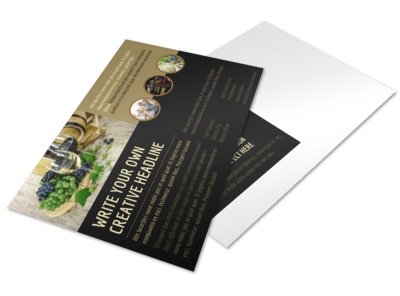 Wine Country Vineyard Postcard Template preview