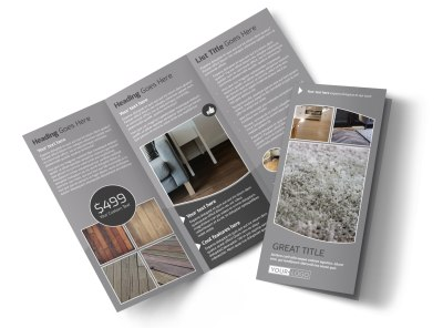 Quality Flooring Company Tri-Fold Brochure Template preview