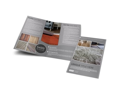 Quality Flooring Company Bi-Fold Brochure Template preview