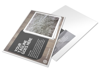 Quality Flooring Company Postcard Template preview