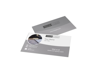 Quality Flooring Company Business Card Template preview