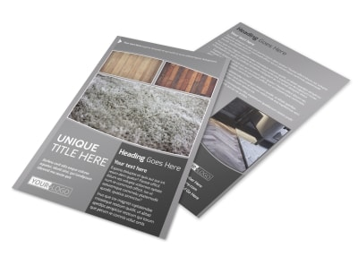 Quality Flooring Company Flyer Template preview