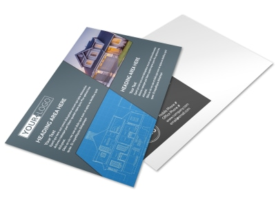 Custom Home Builder Postcard Template preview