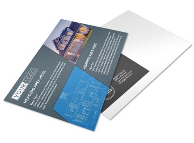 Custom Home Builder Postcard Template preview