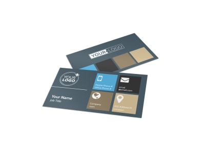 Custom Home Builder Business Card Template preview