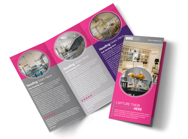 Interior Designers & Decorators Tri-Fold Brochure Template