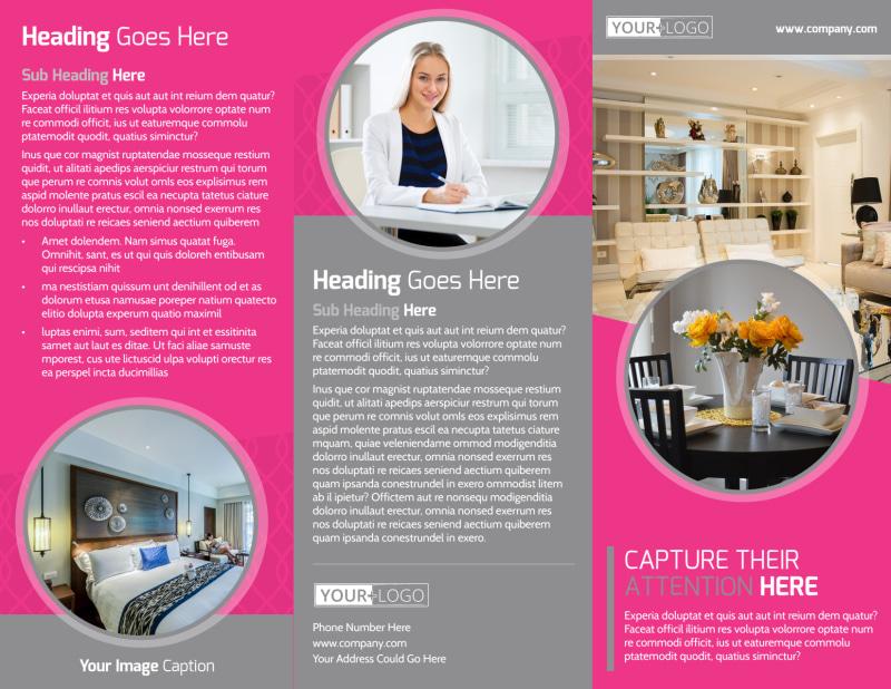 Interior Designers & Decorators Brochure Template Preview 2