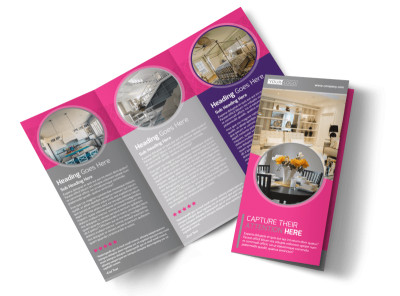 Interior Designers & Decorators Tri-Fold Brochure Template preview