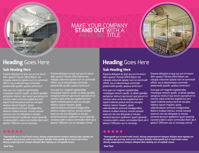 Interior Designers & Decorators Brochure Template Preview 3