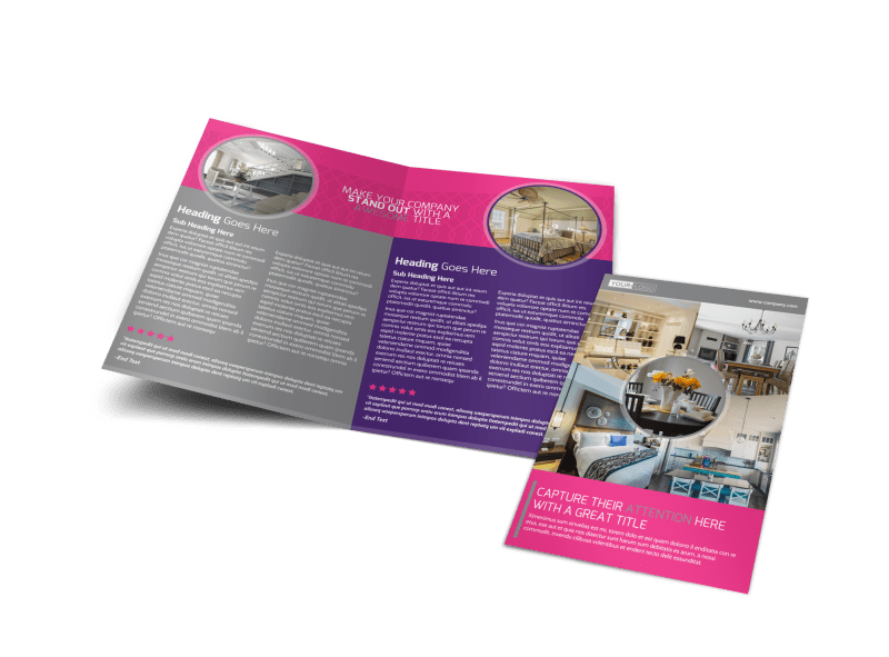 Interior Designers & Decorators Brochure Template Preview 1