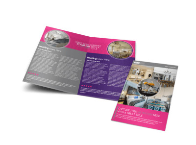 Interior Designers & Decorators Bi-Fold Brochure Template preview