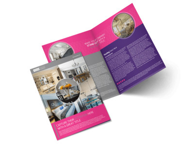 Interior Designers & Decorators Bi-Fold Brochure Template