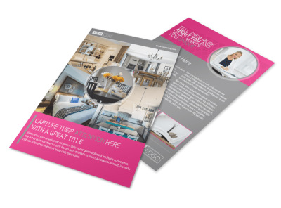 Interior Designers & Decorators Flyer Template preview