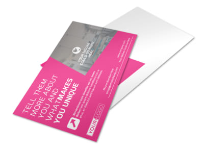 Interior Designers & Decorators Postcard Template preview