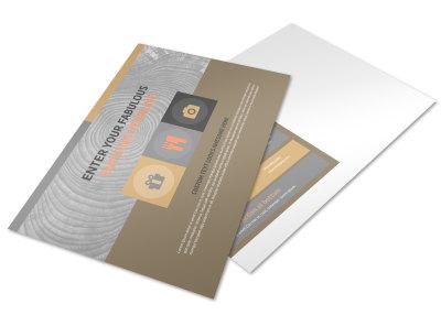 Custom Woodwork Postcard Template preview