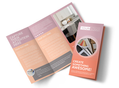 Interior Design Group Tri-Fold Brochure Template preview