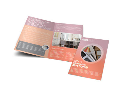 Interior Design Group Bi-Fold Brochure Template preview
