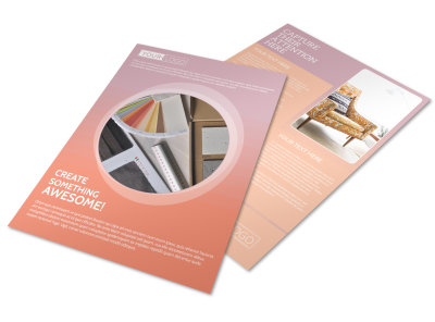 Interior Design Group Flyer Template preview