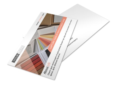 Interior Design Group Postcard Template preview
