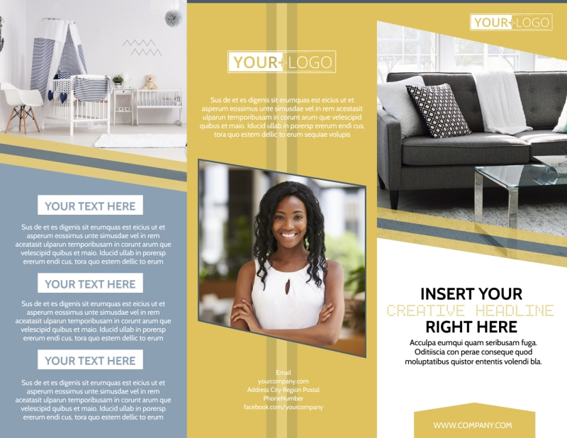 Furniture & Interior Design Brochure Template Preview 2