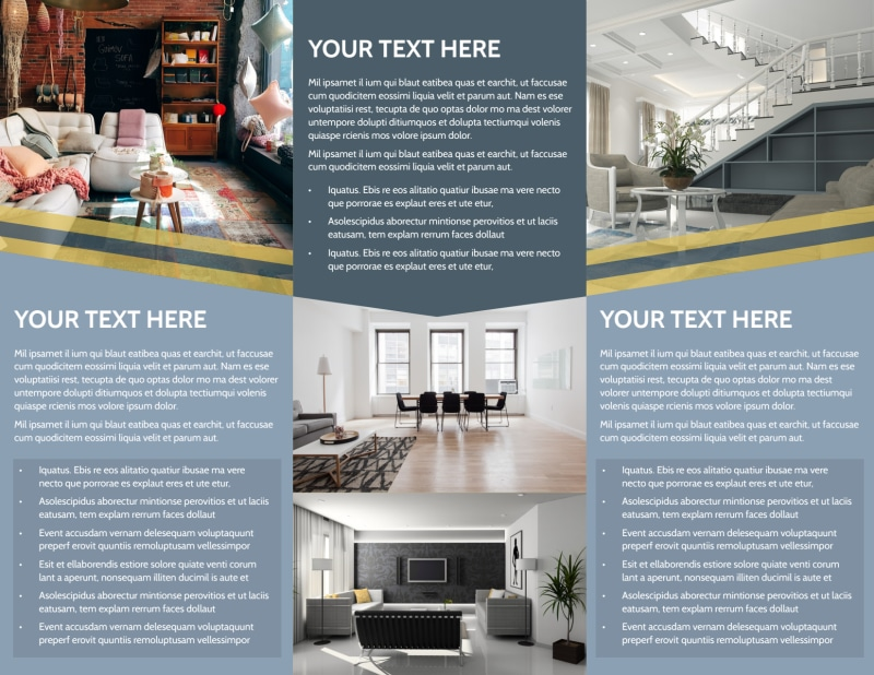 Furniture & Interior Design Brochure Template Preview 3