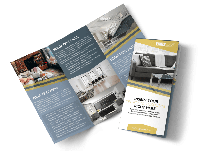 Furniture & Interior Design Brochure Template Preview 1