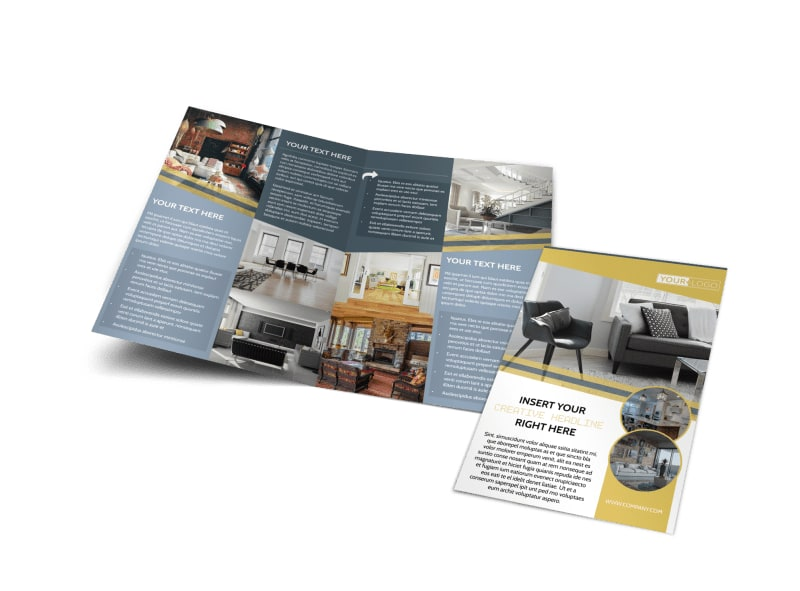 Furniture & Interior Design Bi-Fold Brochure Template
