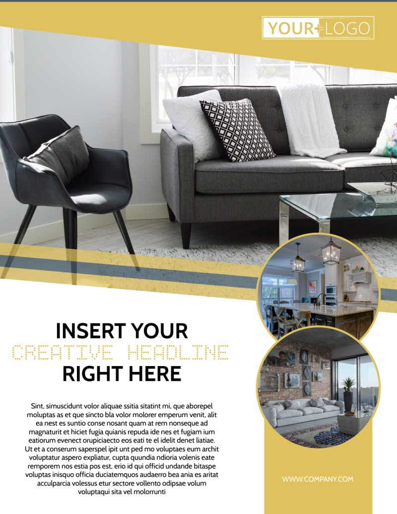 furniture & interior design flyer template | mycreativeshop
