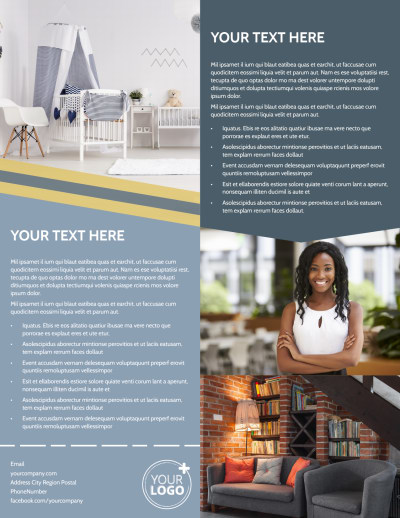 Furniture & Interior Design Flyer Template Preview 2