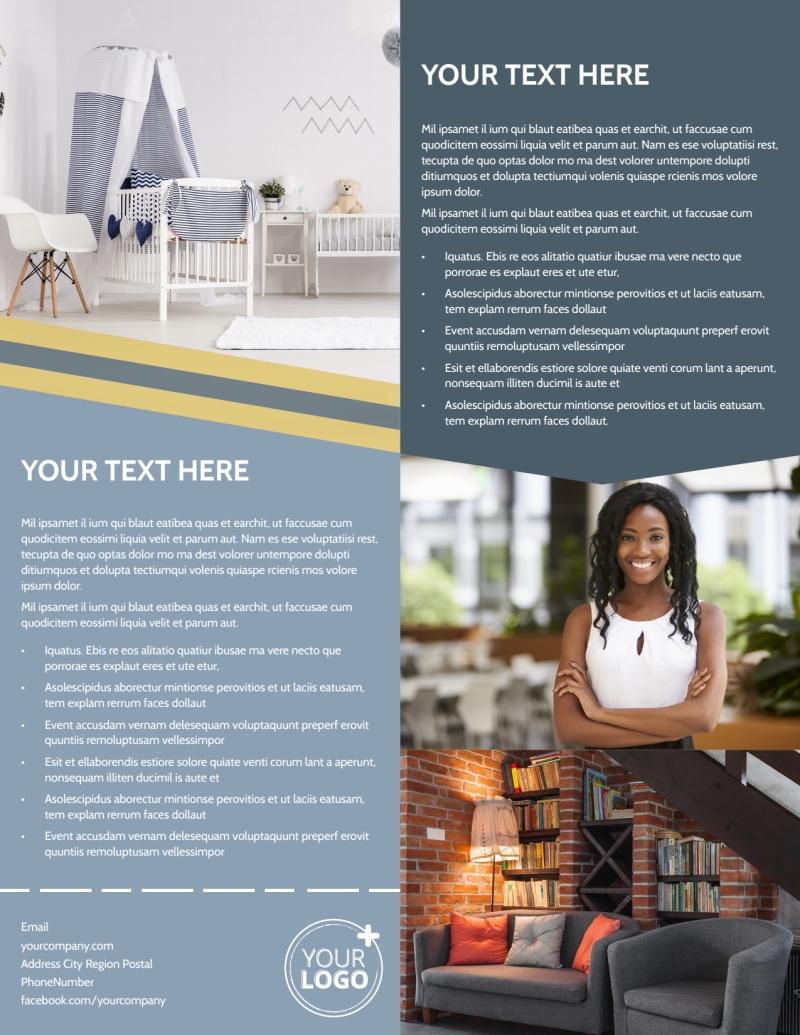 Furniture & Interior Design Flyer Template Preview 3