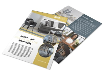 Furniture & Interior Design Flyer Template preview