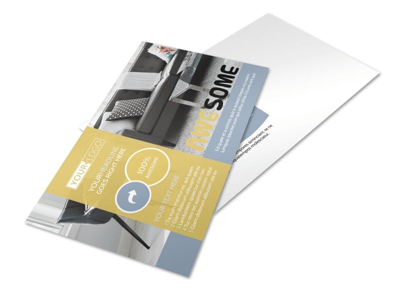 Furniture & Interior Design Postcard Template