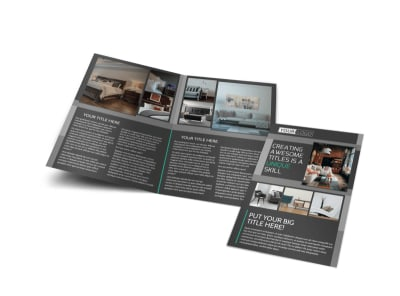 Furniture & Design Consultants Bi-Fold Brochure Template