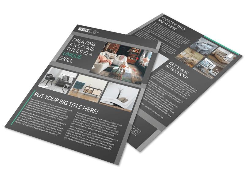 Furniture & Design Consultants Flyer Template